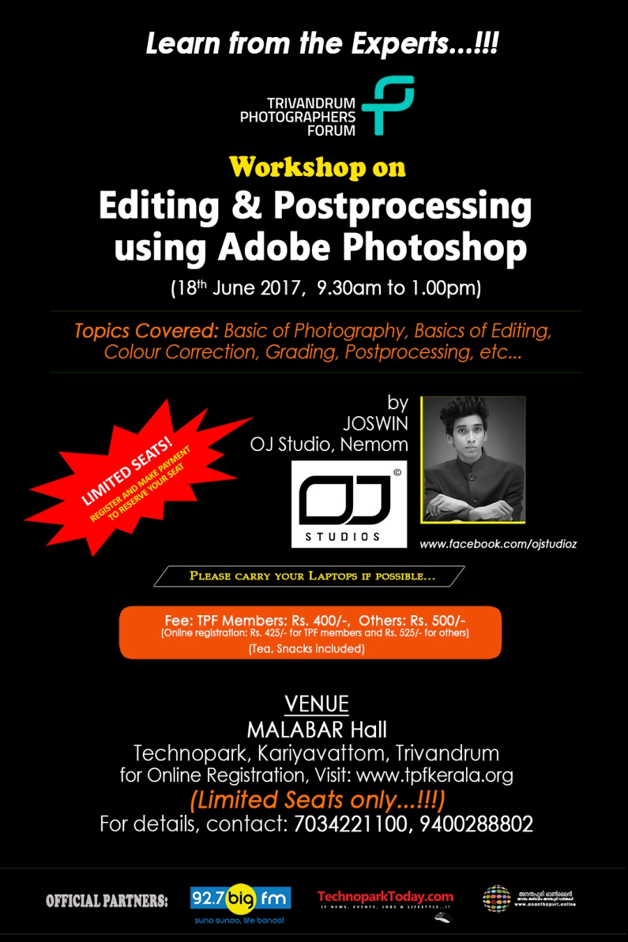 Workshop on Editing & Postprocessing
